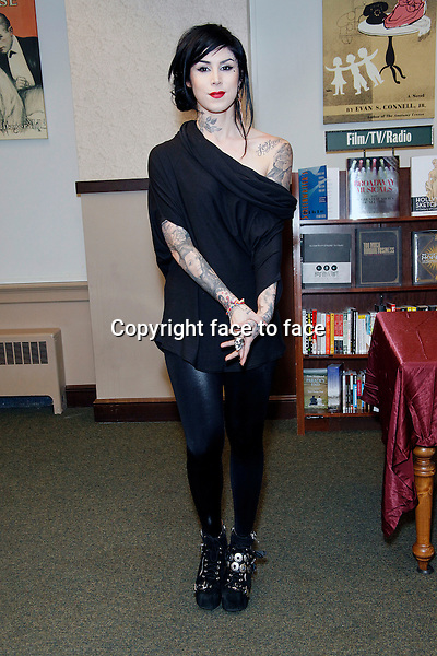 PHILADELPHIA, PA - APRIL 20 : Kat Von D book signing for Go Big Or Go Home at Barnes & Noble in Philadelphia, Pa on April 20, 2013 ..Credit: MediaPunch/face to face..- Germany, Austria, Switzerland, Eastern Europe, Australia, UK, USA, Taiwan, Singapore, China, Malaysia and Thailand rights only -