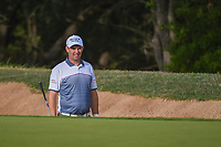 Padraig Harrington (IRL) looks over his shot from the trap on 6 during day 2 of the Valero Texas Open, at the TPC San Antonio Oaks Course, San Antonio, Texas, USA. 4/5/2019.<br /> Picture: Golffile | Ken Murray<br /> <br /> <br /> All photo usage must carry mandatory copyright credit (© Golffile | Ken Murray)