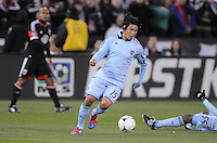 Sporting Kansas City midfielder Roger Espinoza (15) Sporting Kansas City defeated D.C. United  1-0 at RFK Stadium, Saturday March 10, 2012.