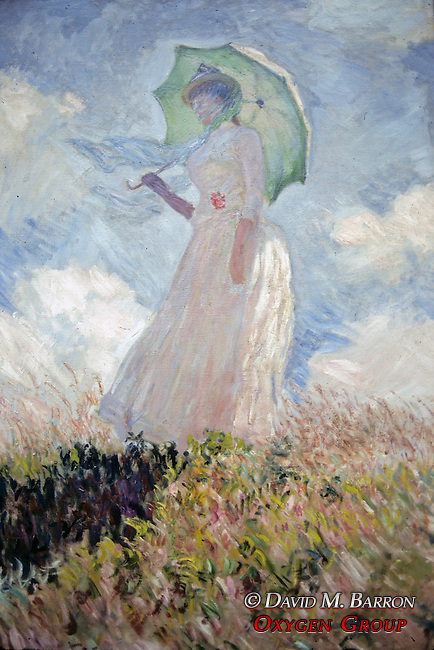Claude Monet, Woman with a Parasol (Facing Left), 1886 Musee d'Orsay