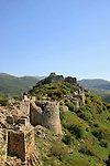 Golan Heights, Nimrod Fortress on the slopes of Mount Hermon, above the Banias spring, was built in 1228