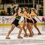 20 January 2017: Members of the University of Vermont Ice Cats entertain the fans prior to a game against the University of Connecticut Huskies at Gutterson Fieldhouse in Burlington, Vermont. The Catamounts held on to defeat the Huskies 5-4 in Hockey East play. Mandatory Credit: Ed Wolfstein Photo *** RAW (NEF) Image File Available ***