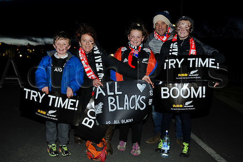 25.06.2016. Dunedin, New Zealand.  Fans during the 3rd Steinlager Series Rugby Union Test match, NZ All Blacks versus Wales, at Forsyth Barr Stadium, Dunedin, New Zealand. 25th June 2016.