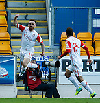 Craig Curran celebrates his goal