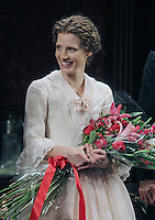 "Jessica Chastain taking her opening night curtain call in the Broadway play ""The Heiress"" at The Walter Kerr Theatre in New York, 01.11.2012...Credit: Rolf Mueller/face to face / MediaPunch Inc  **online only for weekly magazines**** .<br />