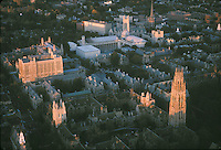 aerial, Yale campus, New Haven, CT