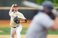 Wake Forest Demon Deacons starting pitcher Connor Kaden (40) in action against the Virginia Cavaliers at Wake Forest Baseball Park on May 17, 2014 in Winston-Salem, North Carolina.  The Demon Deacons defeated the Cavaliers 4-3.  (Brian Westerholt/Four Seam Images)