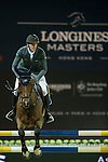 Kevin Staut on For Joy van't Zorgvliet HDC competes during Longines Grand Prix at the Longines Masters of Hong Kong on 21 February 2016 at the Asia World Expo in Hong Kong, China. Photo by Li Man Yuen / Power Sport Images