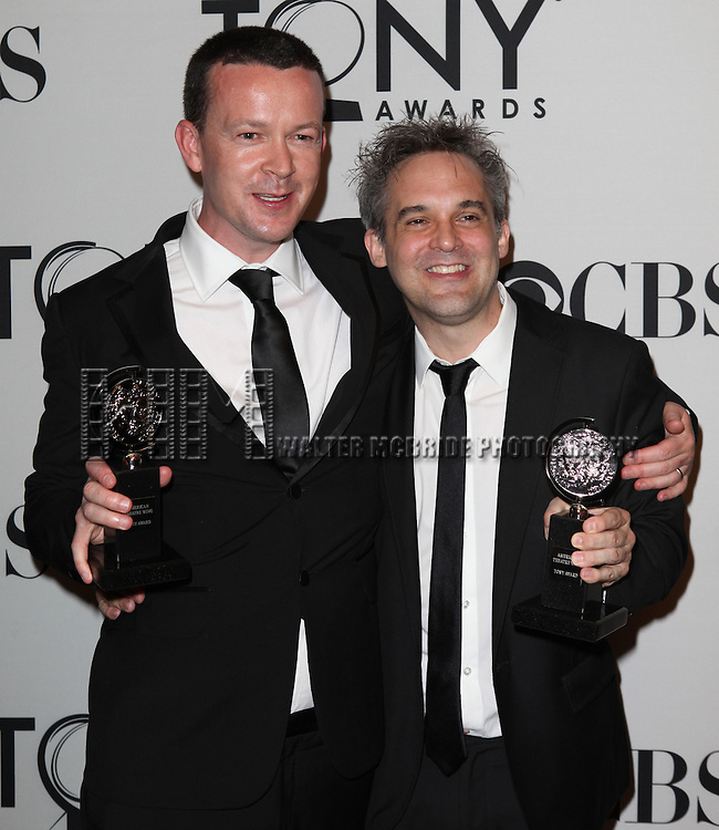 Enda Walsh & Martin Lowe pictured at the 66th Annual Tony Awards held at The Beacon Theatre in New York City , New York on June 10, 2012. © Walter McBride / WM Photography