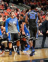 Duke forward Amile Jefferson (21) during an ACC basketball game Jan. 31, 2015 in Charlottesville, VA. Duke won 69-63.