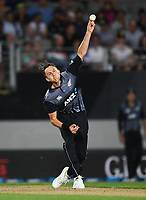 Trent Boult bowling.<br /> New Zealand Black Caps v Australia.Tri-Series International Twenty20 cricket. Eden Park, Auckland, New Zealand. Friday 16 February 2018. &copy; Copyright Photo: Andrew Cornaga / www.Photosport.nz