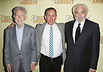 Playwright William Luce, director Steve Cosson and producer Don Gregory attend the Off-Broadway Opening Night Press reception for 'The Belle of Amherst'  at the Westside Theatre on October 19, 2014 in New York City.