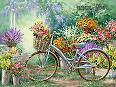 Dona Gelsinger, STILL LIFE STILLLEBEN, NATURALEZA MORTA, paintings+++++,USGE1558,#I# ,bicycles, ,everyday