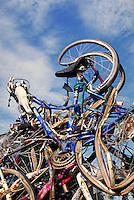 Bicycles smashed into contemporary art, mangled bikes; PR#99.