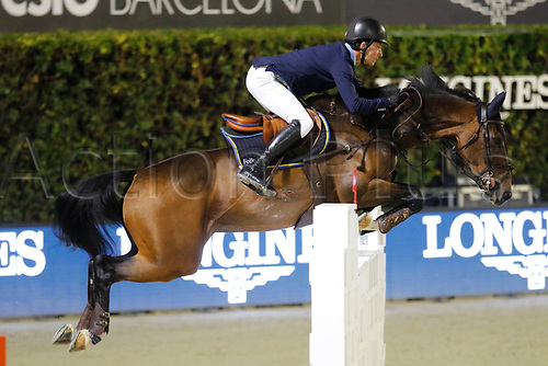 30th September 2017, Real Club de Polo de Barcelona, Barcelona, Spain; Longines FEI Nations Cup, Jumping Final;  Douglas Lindelow (SWE) ridding Zacramento