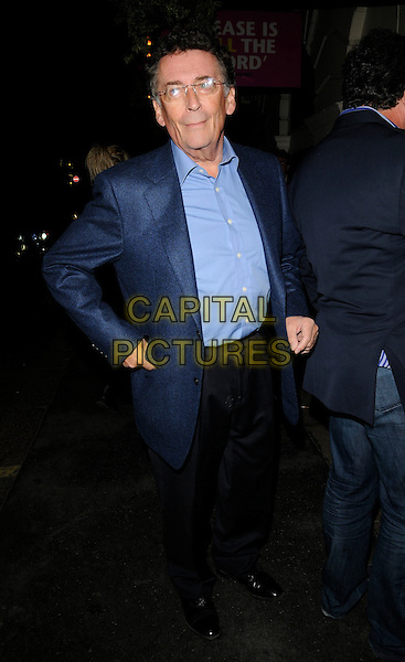 "ROBERT POWELL .At the ""Future Dreams: One More Time"" Charity Gala, PIccadilly Theatre, London, England, UK, .October 4th 2009..full length blue shirt jacket coat hand in pocket glasses .CAP/CAN.©Can Nguyen/Capital Pictures"