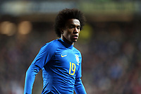 Willian of Brazil and Chelsea during Brazil vs Cameroon, International Friendly Match Football at stadium:mk on 20th November 2018