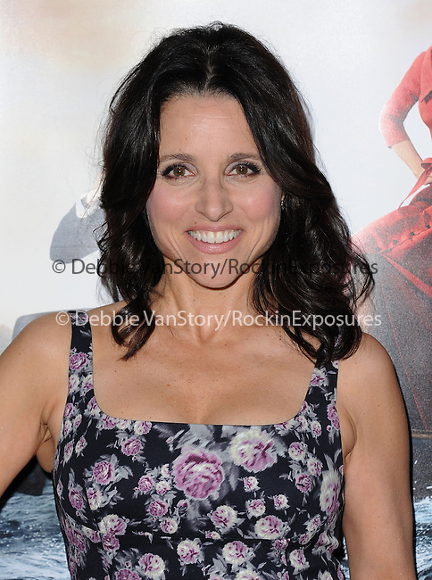 Julia Louis-Dreyfus attends The Los Angeles Premiere for the third season of HBO's series VEEP held at Paramount Studios in Hollywood, California on March 24,2014                                                                               © 2014 Hollywood Press Agency