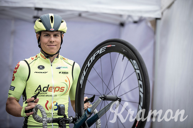 Aksel Nommela (EST/Wallonie Bruxelles), pre race<br /> <br /> Circuit de Wallonie 2019<br /> One Day Race: Charleroi – Charleroi 192.2km (UCI 1.1.)<br /> Bingoal Cycling Cup 2019
