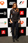 TV presenter Nira Juanco during the F1 World Championship 2014-15 season in A3 TV channel in A3media building in Madrid, Spain. March 6, 2014. (ALTERPHOTOS/Victor Blanco)
