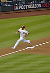 12 October 2012: Washington Nationals rookie outfielder Bryce Harper rounds the bases after hitting a solo home run in the third inning of Postseason Playoff Game 5 of the National League Divisional Series against the St. Louis Cardinals at Nationals Park in Washington, DC. The Cardinals rallied with four runs in the 9th inning to defeat the Nationals 9-7; thus winning the NLDS and moving on to the NL Championship Series. Mandatory Credit: Ed Wolfstein Photo