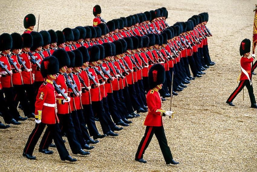 Trooping the Color, Queen Elizabeth II's birthday parade, Horse Guards Parade,  London, England