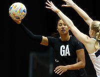 05.08.2015 Silver Ferns Maria Tutaia during Silver Ferns training ahead of the 2015 Netball World Champs at All Phones Arena in Sydney, Australia. Mandatory Photo Credit ©Michael Bradley.