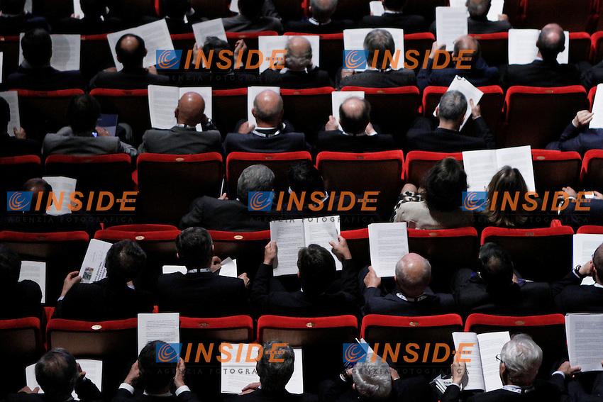 Una panoramica della sala durante l'intervento del Presidente di Confindustria..Roma 24/05/20 Assemblea Generale di Confindustria.Foto Serena Cremaschi Insidefoto