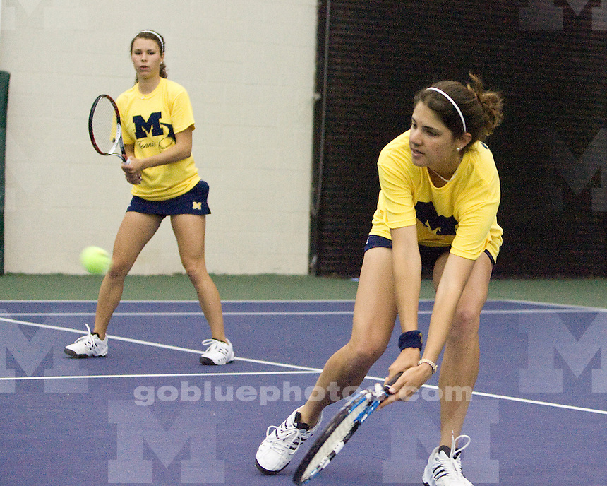 University of Michigan Tennis (Women) win Big Ten Title with a  6 -1 victory over Indiana University at the Varsity Tennis Center on 4/25/2010.