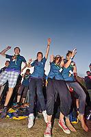 Scouts having fun athe Hofmeister concert