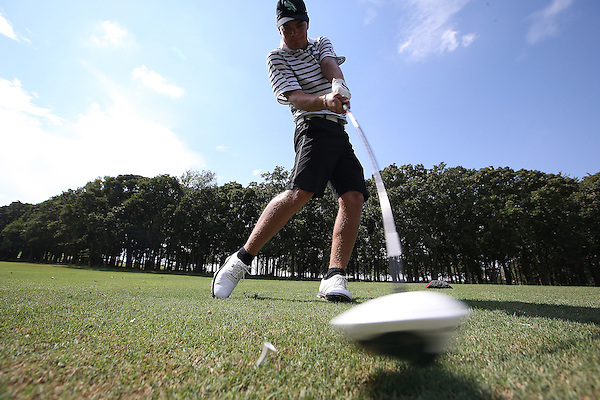 SOUTHLAKE, TX - SEPTEMBER 10: Cory Churchman of the North Texas Mean Green Men's Golf at the Trophy Club Country Club in Southlake on September 10, 2013 in Southlake, Texas. Photo by Rick Yeatts