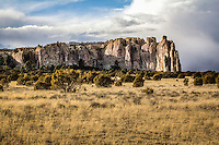 El Morro National Monument in New Mexico has been a poplular stopping place for traverlers or hundreds of years and has over 2000 inscriptions carved in the sandstone.
