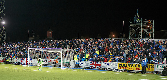 Rangers fans pack into Palmerston Park