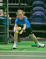 08-02-2014, Netherlands,Rotterdam,Ahoy, ABNAMROWTT,  Ballgirl Koevermans<br /> Photo:Tennisimages/Henk Koster