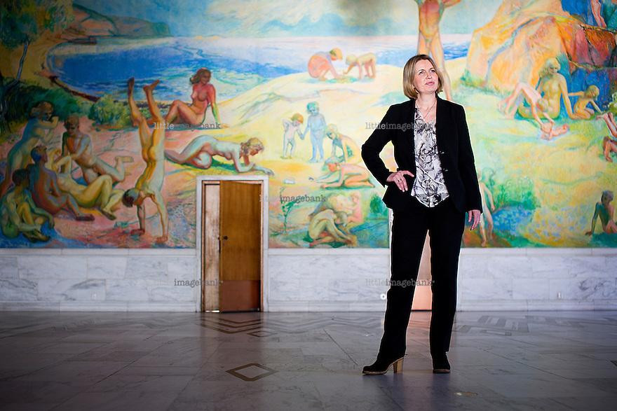Oslo, Norge, 07.03.2013. Kristin Vinje (født 10. juni 1963 i Oslo) er en norsk kjemiker og politiker (H). Hun har siden september 2009 vært Oslos finansbyråd. Foto: Christopher Olssøn.