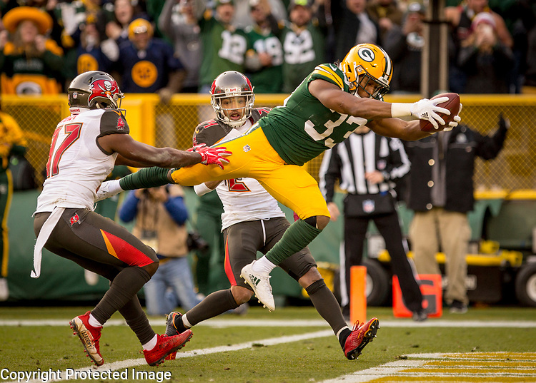 Green Bay Packers vs. Tampa Bay Buccaneers at Lambeau Field in Green Bay, Wis., on December 3, 2017. The Packers won 26-20.
