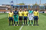 11.01.2019, Bidvest Stadion, Braampark, Johannesburg, RSA, FSP, SV Werder Bremen (GER) vs Bidvest Wits FC (ZA)<br /> <br /> im Bild / picture shows <br /> Schiedsrichter, Thulani Hlatshwayo (Bidvest Wits FC #03), Trikottausch vor Spielbeginn, Max Kruse (Werder Bremen #10), <br /> <br /> Foto © nordphoto / Ewert