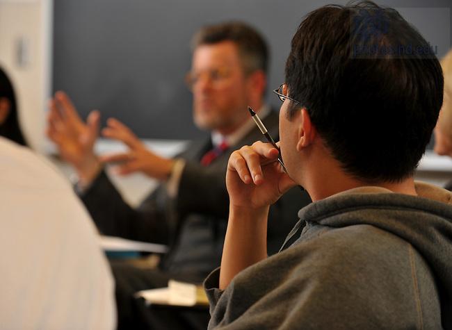 Class in DeBartolo Classroom building..Photo by Matt Cashore/University of Notre Dame