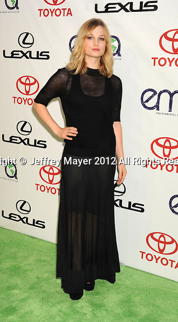 BURBANK, CA - SEPTEMBER 29: Alison Sudol . arrives at the 2012 Environmental Media Awards at Warner Bros. Studios on September 29, 2012 in Burbank, California.
