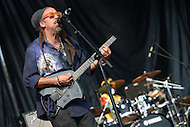 "Largo, MD - July 12, 2014: Stephen ""Cat"" Coore, founding member of the Grammy nominated band Third World, performs at the 1st annual International Festival at the Largo Town Center in Largo, MD, July 12, 2014. The group is best known for its charting hits ""Now The We Found Love"" and ""Try Jah Love."" (Photo by Don Baxter/Media Images International)"