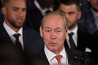 Jim Crane, owner of the Houston Astros, participates in the welcoming ceremony of Baseball's 2017 World Series Campions, the Houston Astros to The White House in Washington, DC, March 12, 2018. <br /> CAP/MPI/CNP/CK<br /> &copy;CK/CNP/MPI/Capital Pictures