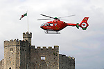 010409 New Welsh Air Ambulance Cardiff Castle