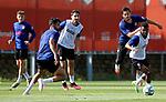 Atletico de Madrid's Kieran Trippier, Diego Costa, Ricard Sanchez, Koke Resurreccion and Thomas Lemar during training session. June 1,2020.(ALTERPHOTOS/Atletico de Madrid/Pool)