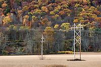 Rural power lines.