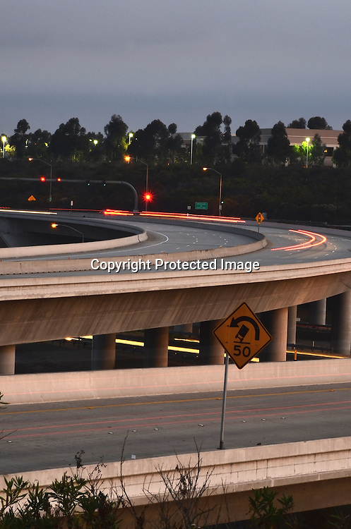 Stock photo of Freeway Stock photo of Orange County California Freeway