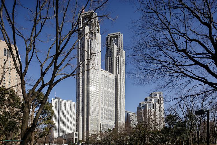 Tokyo, Japan, February 21 2017 - The Tokyo Metropolitan Government Building.