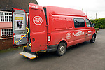 Mobile post office van at Ufford, Suffolk, England