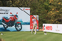 Sihwan Kim (USA) in action on the 11th during Round 1 of the Hero Indian Open at the DLF Golf and Country Club on Thursday 8th March 2018.<br /> Picture:  Thos Caffrey / www.golffile.ie<br /> <br /> All photo usage must carry mandatory copyright credit (&copy; Golffile | Thos Caffrey)