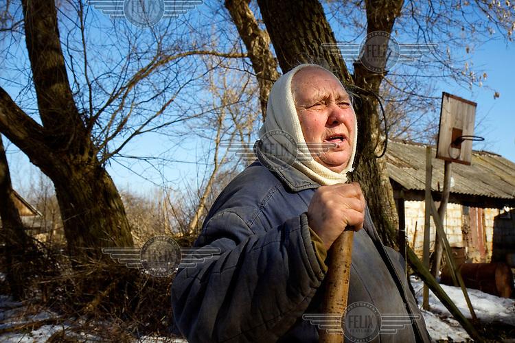 An old pensioner in Lavrov, a village outside Oryol.