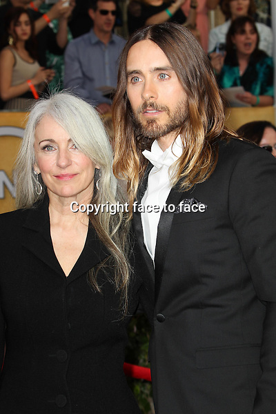 LOS ANGELES, CA - JANUARY 18: Constance Leto, Jared Leto attending the 2014 SAG Awards in Los Angeles, California on January 18, 2014.<br /> Credit: RTNUPA/MediaPunch<br />